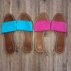 GAP Blue and Pink Slides